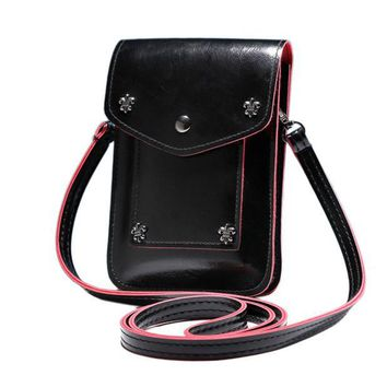 Handbags Leather Mini Messenger Handbag Shoulder Bag Zipper Versatile Handbag