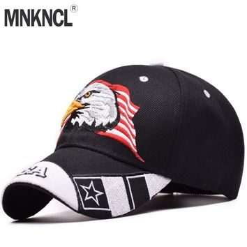 Trendy Winter Jacket MNKNCL High Quality Unisex 100% Cotton Outdoor Baseball Cap Eagle Embroidery Snapback Fashion Sports Hats For Men & Women Caps AT_92_12