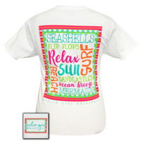 Girlie Girl Preppy Summer Beach Life T-Shirt