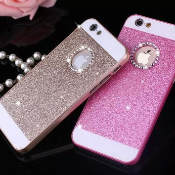 Lovely sparkling pink phone case for iphone 5 5s SE 6 6s 6 plus 6s plus + Nice gift box 080901