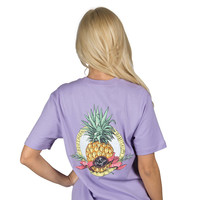 Southern Hospitality Pocket Tee in Lavender by Lauren James