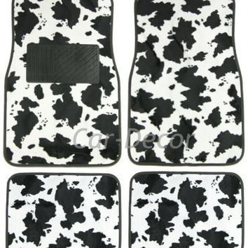 Cow Print Car Accessories Decorative Floow Mats