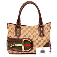 Gucci Horsebit Hasler Guccissima Tote 5715 (Authentic Pre-owned)