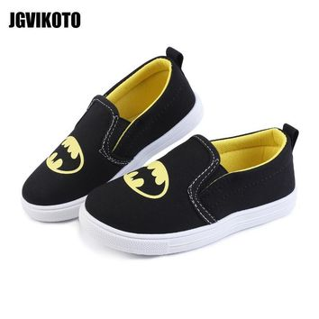 Batman Dark Knight gift Christmas 2018 Sports Shoes Kids Shoes Exclusive Super Heroes Batman Design For Boys Girls Toddler Boy Soft Sneakers Slip-on Loafers Flats AT_71_6