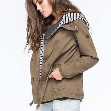 Roxy Wood Ridge Womens Twill Jacket Olive  In Sizes