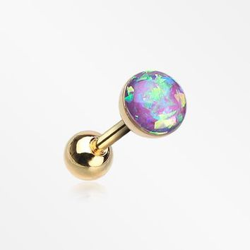 Golden Opal Sparkle Cartilage Tragus Earring
