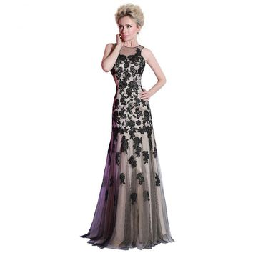 Black Special Occasion Dresses Mermaid Lace Applique Evening Dresses Long Prom Gowns Women Clothing
