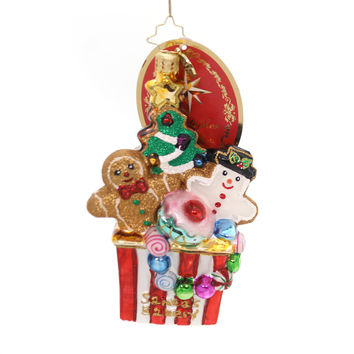 Christopher Radko CHRISTMAS COOKIE COMFORT Gingerbread Snowman Ornament 1018912