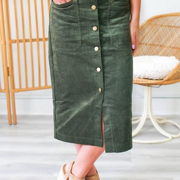 Gather Together Midi Skirt