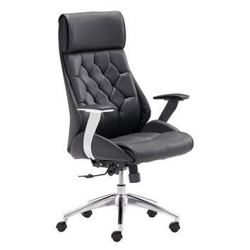 Boutique Office Chair Black Chromed Steel