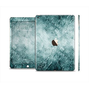 The Grungy Teal Wavy Abstract Surface Skin Set for the Apple iPad Air 2