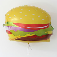 "Hamburger Balloon/ 28"" Jumbo Balloon/  Food Balloon / Large Balloon / Birthday Party/Food/Giant Balloon/Party/ Foil Balloon / Party supplies"