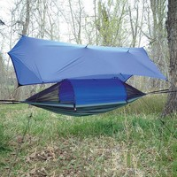 Crazy Creek Crazy Crib LEX Hammock with Tarp (Blue)