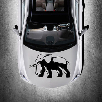 WILD ANIMAL ELEPHANT HOOD CAR VINYL STICKER DECALS GRAPHICS CUTE DESIGN SV2682