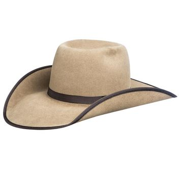2dfd5a69 Rodeo King 7X Pecan Open Crown Chocolate Bound Edge Felt Cowboy Hat