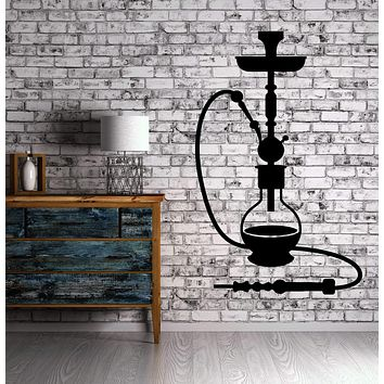 Shisha Hookah Smoke Arabic Cafe Bar Bong Relax Wall Sticker Vinyl Decal Unique Gift (ig2083)