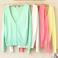 COLORFUL SOFT LONG THIN SWEATER for girls