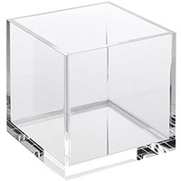 Acrylic Cube Cosmetic Organizer, Makeup Sponge, Beauty Blender, Silisponge & Hair Accessories Holder