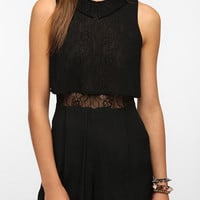 Pins and Needles Lace Collar Romper