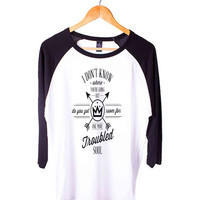 Fall Out Boy Lyric Short Sleeve Raglan - White Red - White Blue - White Black XS, S, M, L, XL, AND 2XL*AD*