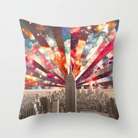 Superstar New York Throw Pillow by Bianca Green