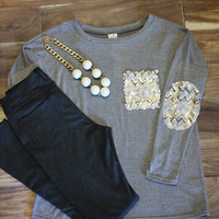 Baywood Shores Elbow Patch Tunic