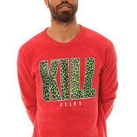 Kill Brand The Kill Cheetah Red Crew