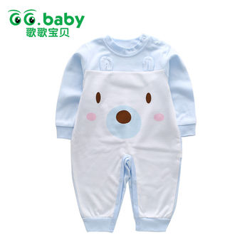 Animal Baby Bear Ears Romper Girls Clothes New Born Rompers Baby Boy Jumpsuit Unisex Cotton Baby Clothing Long Sleeve Infant Boy