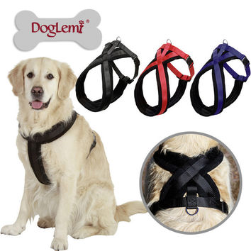 Large Dog Harness Vest 2015 New Pet Products Comfortable Thicken Nylon Flannel Red Blue 3 Colors Professional Dog Chest Straps