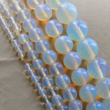 New Arrival DIY Round Moonstone Stone Bead Jewelry Accessories For Necklace Bracelet 4mm 6mm 8mm 10mm 12mm Free Shipping