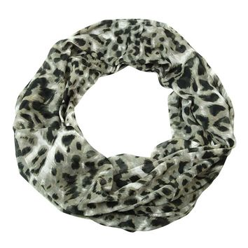 Collection Eighteen Women's Leopard Print Infinity Scarf