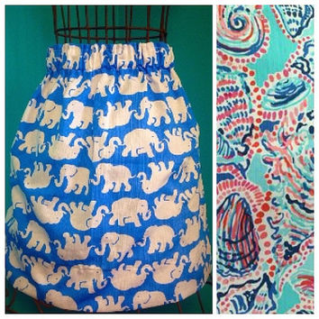 Custom Lilly Pulitzer Shell Me About It Skirt