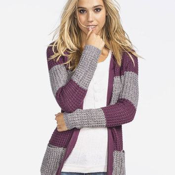 Roxy Rocky Stone Womens Hooded Cardigan Burgundy  In Sizes