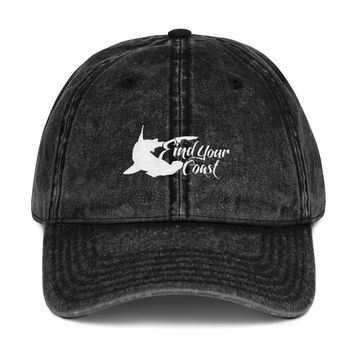 Find Your Coast Hammerhead Vintage Cotton Twill Adjustable Cap