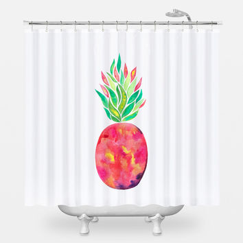 Pineapple Flare Shower Curtain