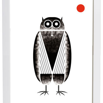 Owl with Moon Poster