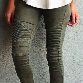 Stretch Stylish Pencil Pants Skinny Pants [9199348100]