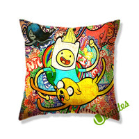 Adventure Time Jack And Finn Square Pillow Cover