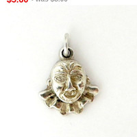 ON SALE! Vintage Sterling Silver Clown Face Charm