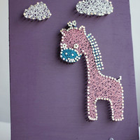 Giraffe String Wall Art
