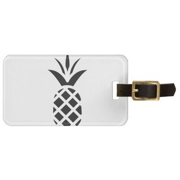 Black Pine Apple Luggage Tag