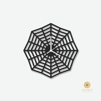 Spiderweb Modern Wall Clock, Modern, Laser Cut, Wall, Art, Decor, Clock