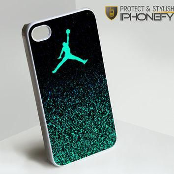 Nike Air Jordan Jump Mint Glitter iPhone 4[S] Case|iPhonefy