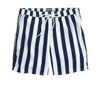 "J.Crew Mens 6"" Swim Trunk In Astor Blue Stripe"