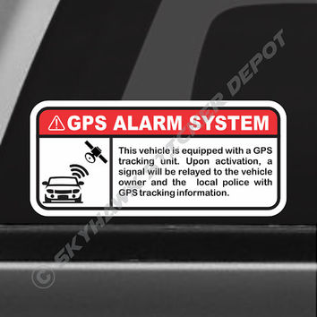 GPS Alarm System Warning Sticker Set Decal Set Label Vinyl Decal Anti Theft Sticker Car Vehicle Security Sticker Truck Sticker