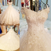Wedding Dress Corset Back ball gown tulle wedding gown