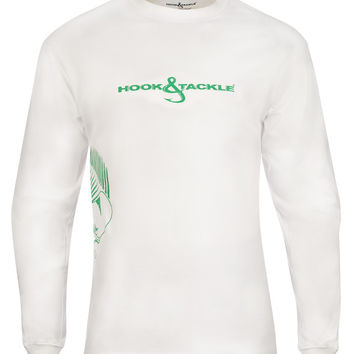 Men's Bull Dolphin Wrap L/S UV Fishing T-Shirt
