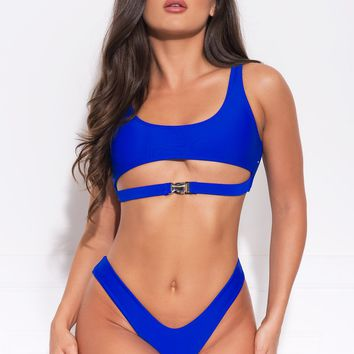 Mermaid Point Two Piece Swimsuit - Royal Blue
