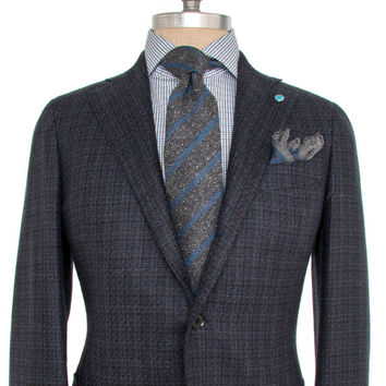 Eidos Napoli Black and Navy Mix Weave Boucle Sportcoat