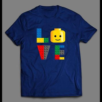 "LEGO BLOCKS ""LOVE"" CARTOON SHIRT"